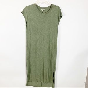 Madewell Green Short Sleeve Dress Size Large